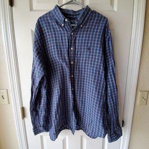 Ralph LAUREN Blue Plaid Button Down Shirt Men's